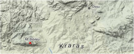 Wilayah sekitar pembantaian Kraras, September 1983. [sumber: Google]