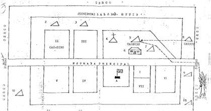 Peta kampung Lalerek Mutin yang di set-up sebagai desa baru bagi penduduk setelah pembantain Kraras. Jumlah yang meninggal akibat siksaan dan kelaparan di sinipun tak kalah banyak dibanding pembantaian itu sendiri. [sumber: Timor Archives]